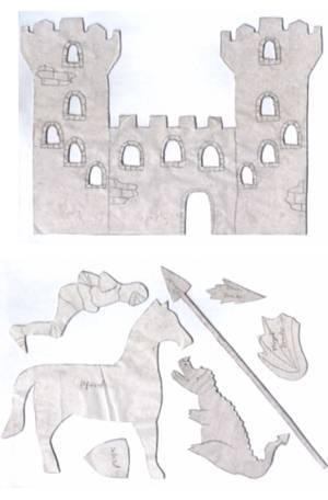 Burg Ritter Und Drache