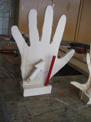 desktoporganizer hand, Moderne