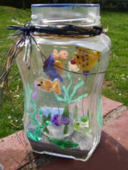 aquarium im glas basteln