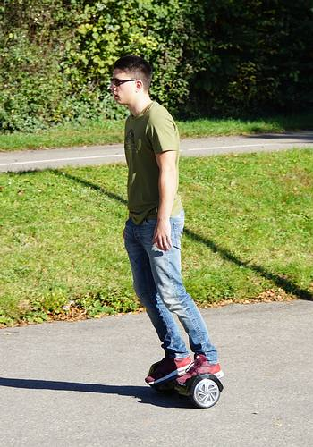 Hoverboard Rennen