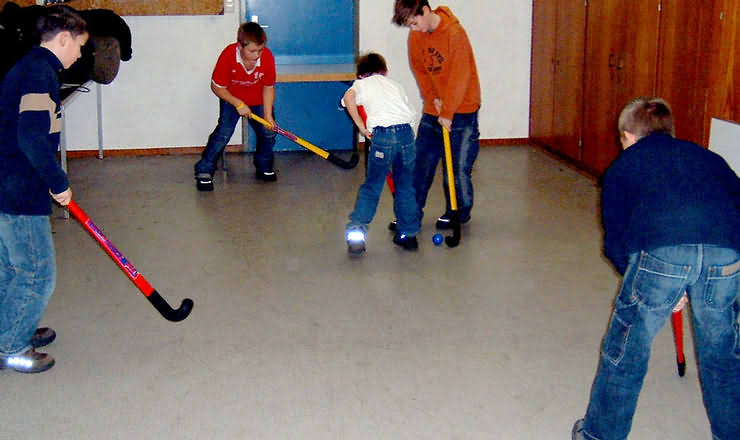 Indoor-Hockeyspiel